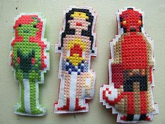 Taking Wee Little Stitches' patterns and turning them into stitched dolls. Great idea.