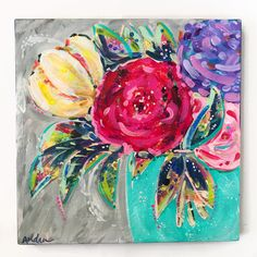 Items similar to Floral Abstract Pop Art Painting / Flower Art / inch Original Art on Canvas / Acrylic / Audra Sampson on Etsy Craft Show Ideas, Art Ideas, Fashion Painting, Floral Paintings, Acrylic Paintings, Doodle Drawings, Flower Art, Pop Art, Art Photography