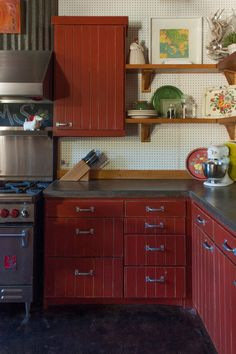 eclectic kitchen by Angela Flournoy - corner