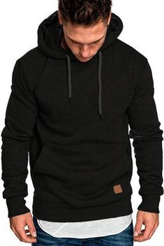 35 Incredible Mens Hoodies Ideas For Men Look Awesome Today - In the past, men's hoodies were stereotyped as only being worn by sporty types on the way to or returning from a run, a match or some other form of ph. Black Hoodie Outfit, Sweatshirt Outfit, Mode Masculine, One Piece Hoodie, Mens Sweatshirts, Men's Hoodies, Mens Clothing Styles, Male Clothing, Unisex