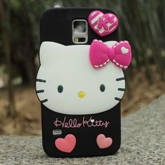 Cute 3D Hello Kitty Silicone Soft Case For Samsung Galaxy S5 SV