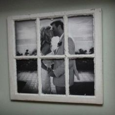 DIY Rustic Picture Frame. Great for wedding photo or family photo. Love it!