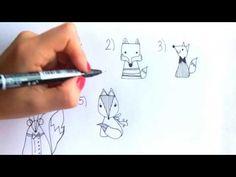 COMO DIBUJAR TIERNOS ZORROS | 6 IDEAS PARA HACELOS ! Hiper dulces para decorar cuadernos , notas o simplemente disfrutar dibujandolos y personalizandolos ♡
