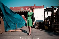Green dress. Stacie Kristine. Photo by Industry of One