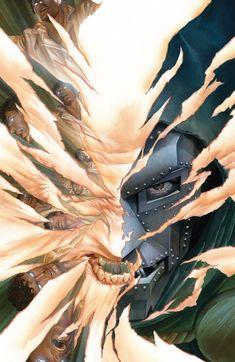 cover art for the 2015 Secret Wars, by Alex Ross. Dr Doom Marvel, Marvel Comics, Marvel Villains, Fun Comics, Marvel Vs, Marvel Heroes, Cosmic Comics, Comic Books For Sale, Best Comic Books