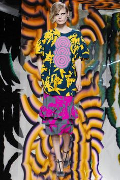 Dries Van Noten 'pop up spectacle mashup' GIF, PFW AW14. More images here: http://www.dazeddigital.com/fashion/article/19148/1/pfw-aw14-gifs