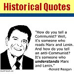 Great point about Communism by Ronald Reagan