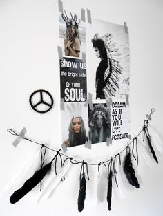 Méchant Design: I ☆ feathers Do It Yourself Inspiration, Room Inspiration, Interior Inspiration, Inspiration Boards, Wild Spirit, Free Spirit, Banner, House In The Woods, My Room