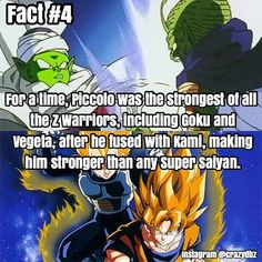Did you know? Piccolo is awesome! credit: @crazydbz please give credit if reposted thanks Follow: @dbz.go for more hot content! stay saiyan! Your Opinion Is Important: Leave A Comment