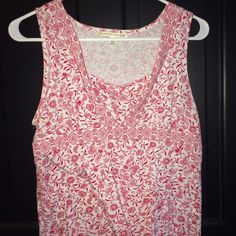 Red paisley tank! Cute tank with red and white paisley design! Carolyn Taylor Tops Tank Tops