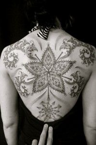Intricate back piece