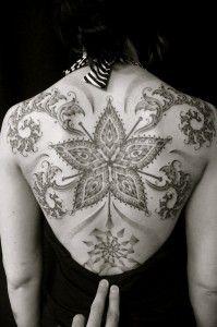 Intricate back piece