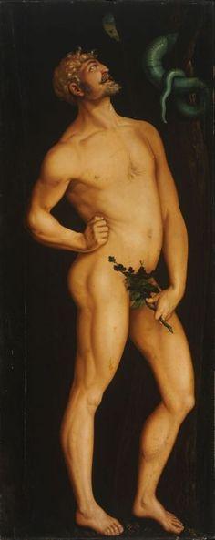 Hans BALDUNG. Adam [oil on limewood panel], c. 1524.
