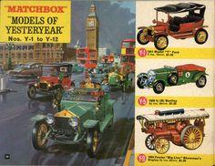"""Matchbox Lesney 1966 catalog Yesteryear, Y-1 1911 Model """"T"""" Ford, Y-5 1929 4½ & Y-9 1924 Fowler """"Big Lion"""" Showman's Engine"""