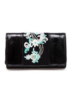 DRIES VAN NOTEN Embellished Python Clutch Bag