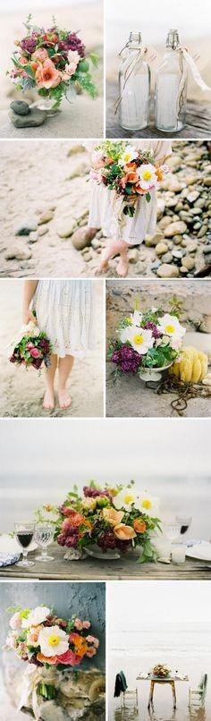 flowers, white, water