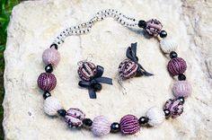 Комплект: Ожерелье и Серьги Виолетта от bellinalviv на Etsy