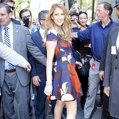 Celine Dion poses for photos outside NBC studios, New York (105238)