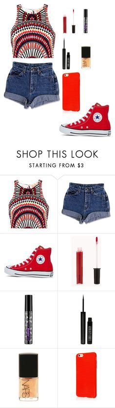"""""""Something special in red"""" by farahossama ❤ liked on Polyvore featuring Mara Hoffman, Converse, Forever 21, Urban Decay, Lord & Berry and NARS Cosmetics"""
