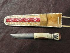 scrimshaw von Gele Schloetmann, Messer mit Schildkröte