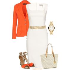 """""""Orange & Gold"""" by nycfashionista on Polyvore"""