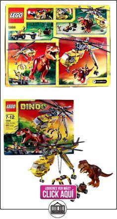 Lego Year 2012 DINO Series Set# 5886 : T-REX HUNTER with Helicopter, Scout Vehicle, T-Rex Dinosaur and 2 Hero Minigifures (Total Pieces: 480) by Dino  ✿ Lego - el surtido más amplio ✿ ▬► Ver oferta: https://comprar.io/goto/B009FS4GIU