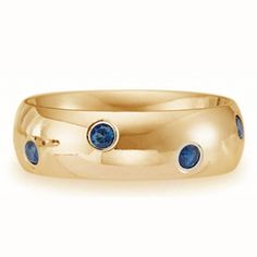sapphire in yellow gold