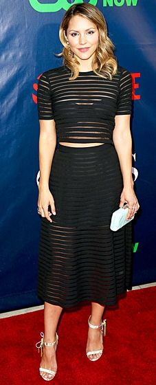 Katharine McPhee Photos Photos - Singer Katharine McPhee attends the CBS, The CW, Showtime & CBS Television Distribution's 2014 TCA Summer Press Tour Party at Pacific Design Center on July 2014 in West Hollywood, California. Matching Top And Skirt, Red Carpet Gowns, Crop Top Outfits, Celebrity Look, Celeb Style, Katharine Mcphee, Spring Summer Fashion, Just In Case, Nice Dresses