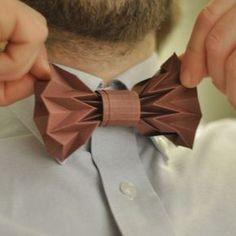 Tutoriel noeud papillon en papier plié (origami)