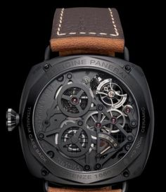 SIHH 2010: Panerai Radiomir Tourbillon GMT Ceramica Skeleton 48mm (PAM348) | World Watch Review  This watch is amazing