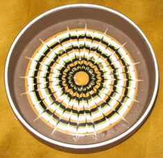 Brown pin dish ash tray HORNSEA POTTERY MURAMIC