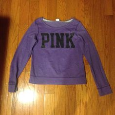 Victoria's Secret crew neck Victoria's Secret PINK crew neck. As thin as a long sleeve shirt. Very good condition. Plain on the back PINK Victoria's Secret Tops Tees - Long Sleeve