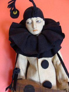 For Sale - Lenci-Pierrot-Boudoir-Bed-Doll-Original-Costume