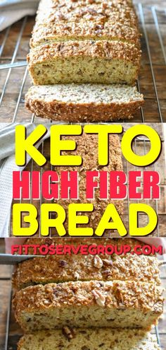 When what you are needing is a low carb bread that is also high in fiber but it needs to taste legit, this keto high fiber bread is the answer. Slice, bake and enjoy a keto bread that won't disappoint! No Bread Diet, Best Keto Bread, Low Carb Bread, Easy Keto Bread Recipe, Easy Bread Recipes, Baking Recipes, Keto Recipes, Healthy Recipes, Healthy Breads