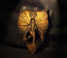 Lord Mocks Dark Fairy Girl Planchette (Spirit Pointer) by LordMockDesigns on Etsy
