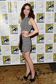 Lily Collins at San Diego's Comic-Con event