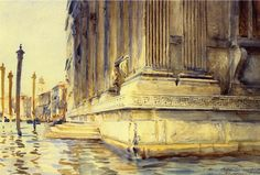 "John Singer Sargent (1856-1925) 1907  Palazzo Grimani  Watercolor on paper  45.72 x 30.48 cm  (18"" x 12"")  Public collection"