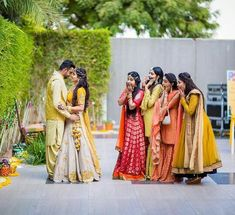 The Big Fat Indian Wedding couple poses The Must Have Bride & Bridesmaids Photos Indian Wedding Poses, Indian Wedding Couple Photography, Wedding Picture Poses, Indian Wedding Bridesmaids, Big Fat Indian Wedding, Funny Wedding Poses, Indian Engagement Photos, Indian Wedding Pictures, Pre Wedding Poses