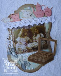 Kreatrends Tea Party, Decorative Boxes, Frame, Cards, Home Decor, Picture Frame, Decoration Home, Room Decor, Map