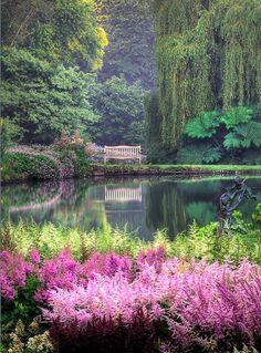 Marwood Hill Gardens, Devon, England.
