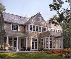 House love - cedar shingles - sunroom - home - architecture - hamptons