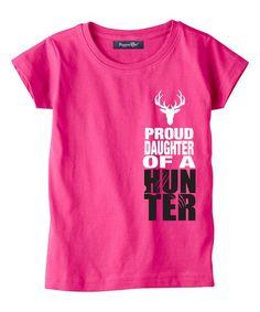 Hot Pink & White 'Proud Daughter' Tee - Toddler & Girls