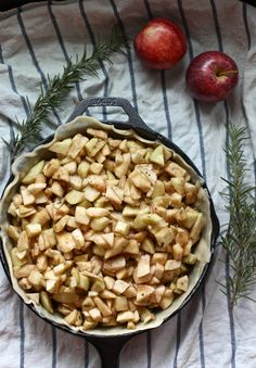 skillet rosemary & apple pie by Wit + Aroma Must try this.
