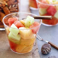A simple lime syrup coats this honeydew, cantaloupe, and watermelon salad. This versatile side dish recipe is perfect with eggs for brunch or as an accompaniment to grilled meat for dinner.