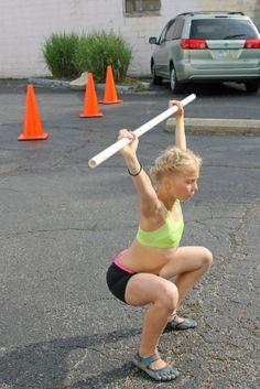 CrossFit Kids WOD's  Perfect form! you go girl!!!  Melissa Guillen