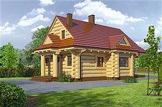 Projekt domu D03 Grześ drewniany 84,66 m2 - koszt budowy 76 tys. zł - EXTRADOM Home Fashion, Gazebo, Bali, Outdoor Structures, House Styles, Home Decor, Projects, Kiosk, Decoration Home