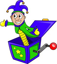 Jack In The Box Clipart Image - Jester Jack-in-the-Box Toy ...