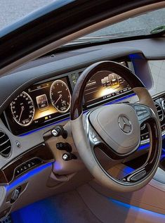 Mercedes S-class inside - Best Luxury Cars Mercedes Benz Autos, Mercedes Benz Cars, Mercedes S Class Interior, Car Ui, Mercedez Benz, Muscle Cars, Lux Cars, Best Luxury Cars, Sport Cars