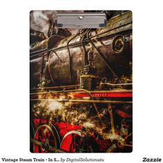 Vintage Steam Train - In Steam Clipboard