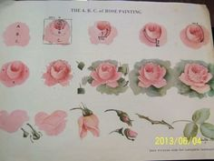 Ideas For Drawing Rose Tutorial China Painting China Painting, Tole Painting, Fabric Painting, Gouache Painting, Diy Painting, China Rose, China China, Rose Tutorial, Diy Tutorial
